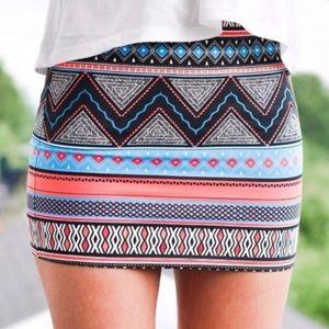 Zara Aztec Bandeau Mini Skirt